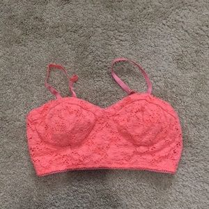 Barely Worn Coral Bralette Top
